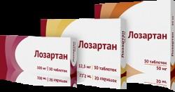 Лозартан, табл. п/о пленочной 12.5 мг №30