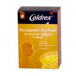 Колдрекс ХотРем, пор. д/р-ра д/приема внутрь 6 г №5 лимон мед пакетики